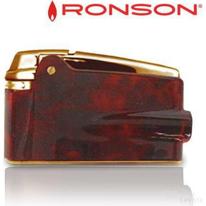 Ronson Varaflame Bruin Marble - Goud