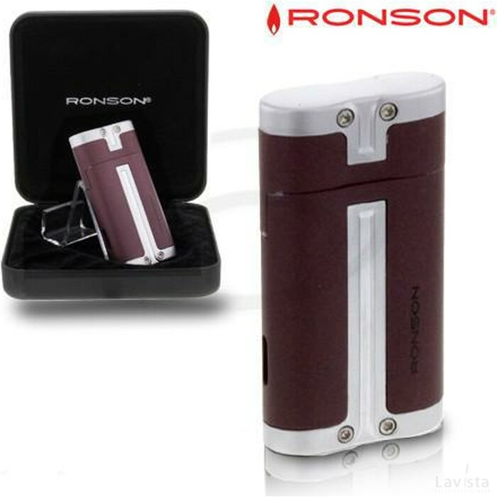 Ronson Barrel Turbo Aansteker Bordeaux