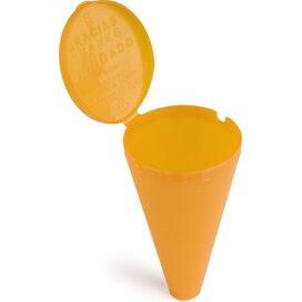 Strand asbak Oranje