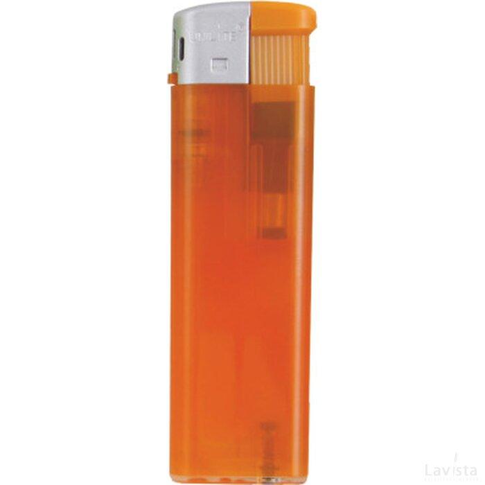 Platte Elektronische TL aansteker, navulbaar Oranje