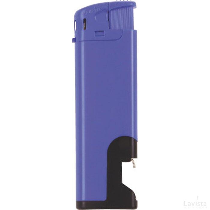 Elektronische aansteker flesopener, navulbaar Blauw