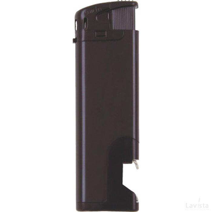 Elektronische aansteker flesopener, navulbaar Zwart