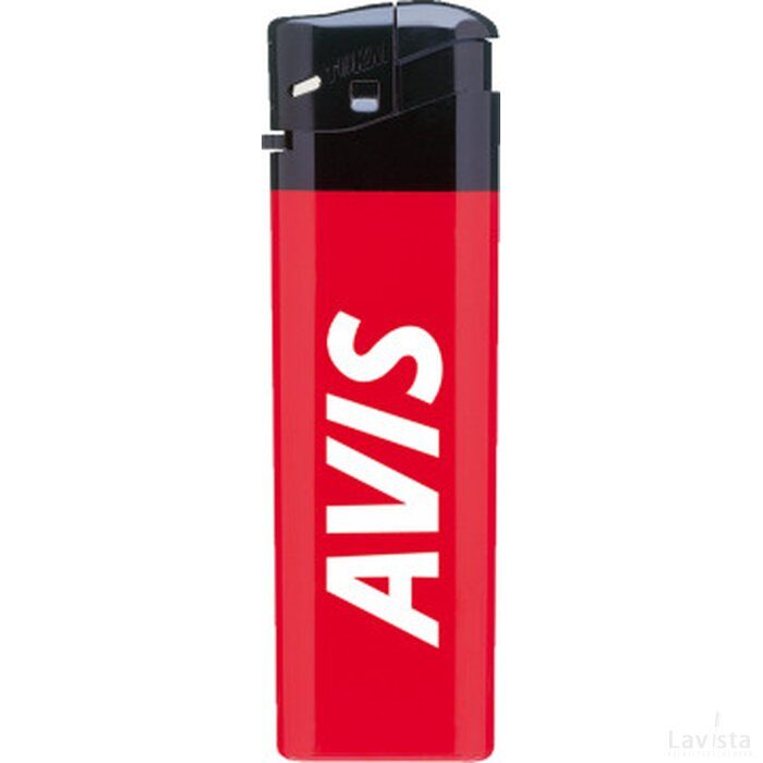 Tokai aansteker P12, elektronisch hard colour Rood