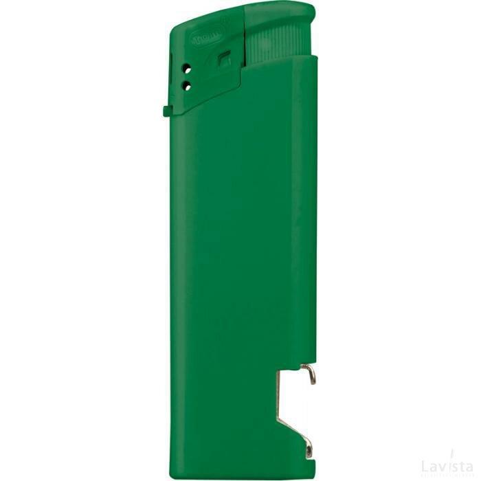 Aansteker met flesopener Groen
