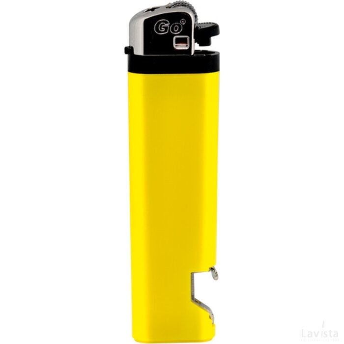 GO aansteker met flesopener geel
