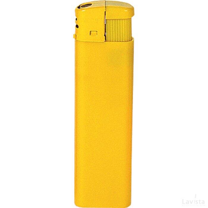 Platte elektronische HC aansteker, navulbaar geel