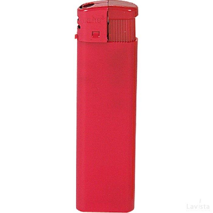 Platte elektronische HC aansteker, navulbaar rood