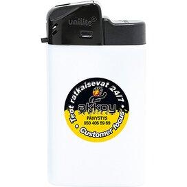 Brede elektronische aansteker HC, navulbaar DIGITAAL tot full colour wit
