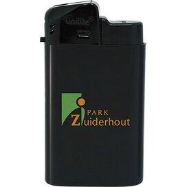 Brede elektronische aansteker HC, navulbaar TAMPONPRINT zwart