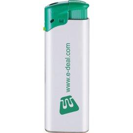 Elektronische FBL aansteker, navulbaar wit/groen