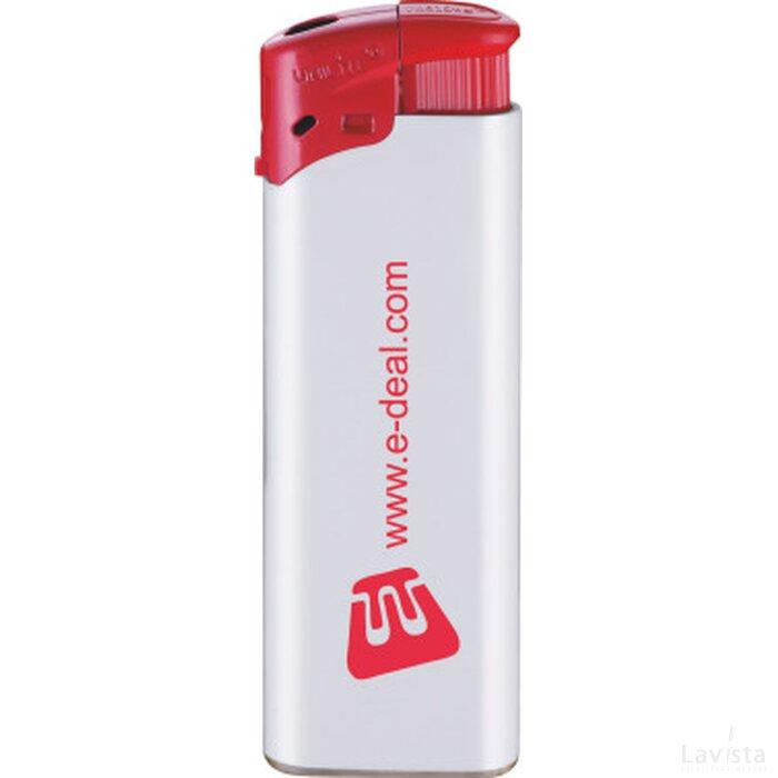 Elektronische FBL aansteker, navulbaar wit/rood
