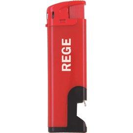 Elektronische aansteker flesopener, navulbaar rood