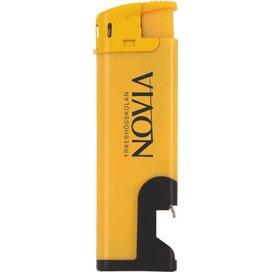 Elektronische aansteker flesopener, navulbaar geel